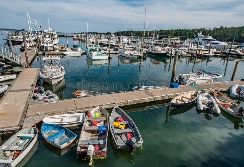Maine Marina image libre de droits