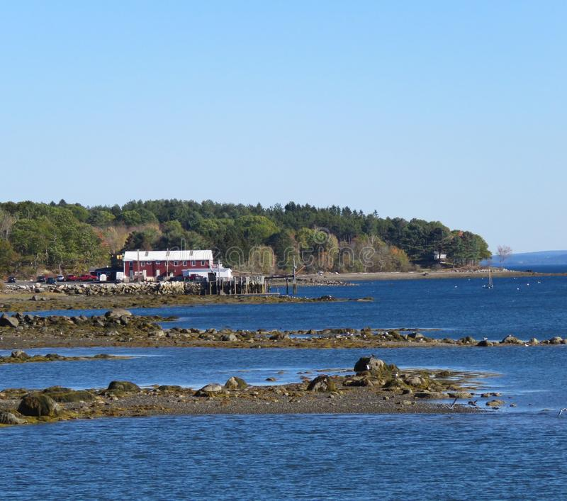 Maine Nabrzeżna zatoka fotografia royalty free