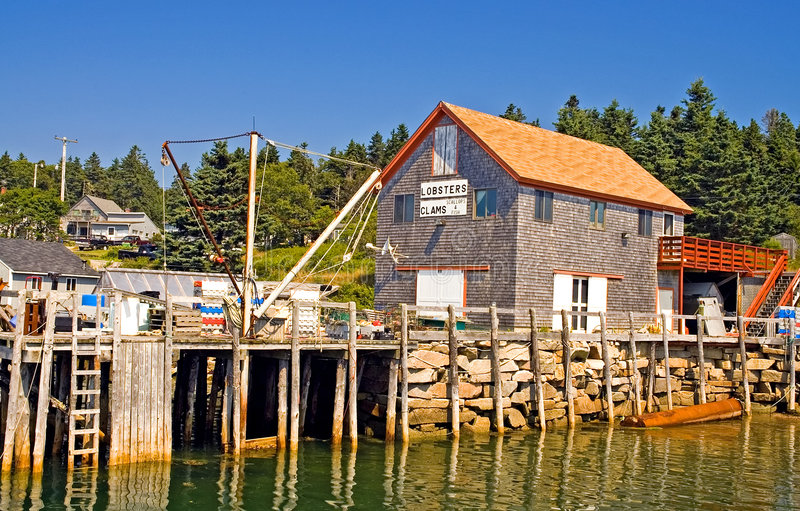 Maine nadbrzeża połowów obrazy stock