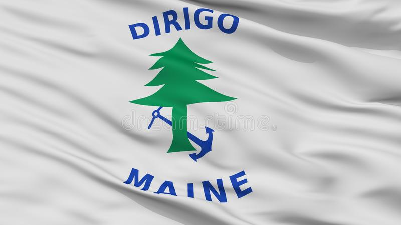 Maine Naval Ensign Flag Closeup-Mening stock illustratie
