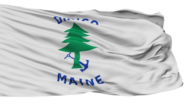 Maine Naval Ensign Flag, op Wit wordt geïsoleerd dat vector illustratie