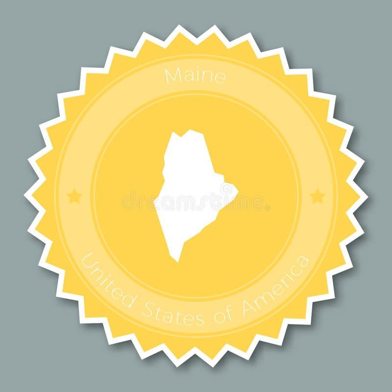 Maine odznaki płaski projekt ilustracja wektor