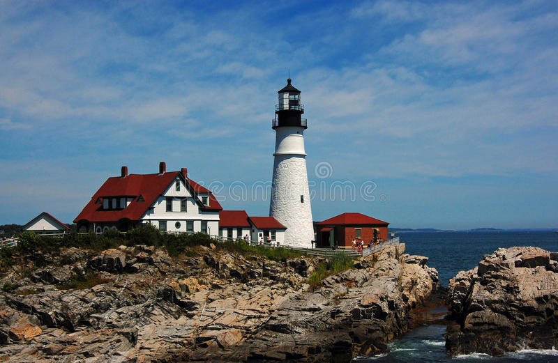 Maine - Portland Head Light Close-Up royalty free stock image