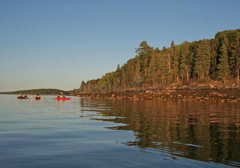 Maine Sea Kayaking fotografia stock