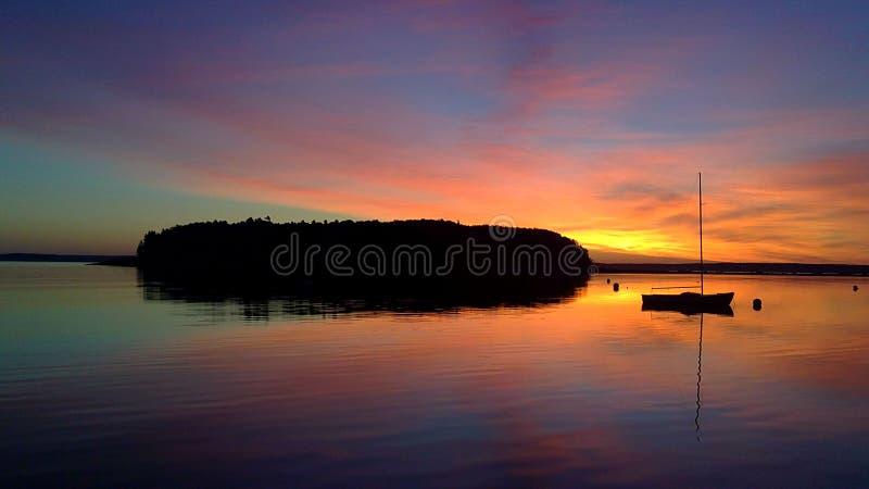 Maine-Sonnenaufgang lizenzfreie stockfotografie