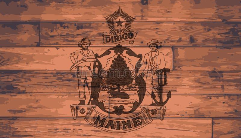Maine State Flag Brand illustrazione di stock