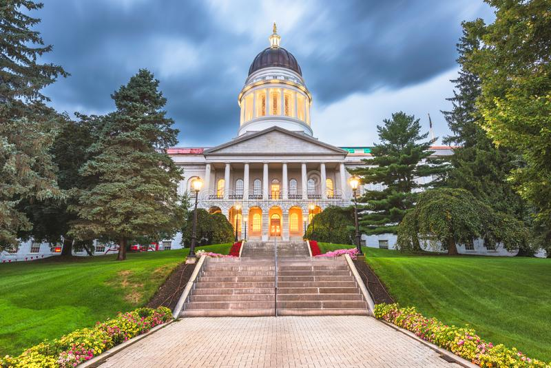Maine State House a Augusta, Maine, U.S.A. fotografia stock libera da diritti
