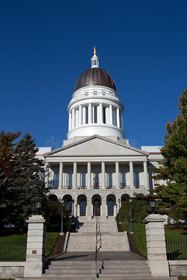 Maine State House Capitol Building royalty-vrije stock afbeeldingen