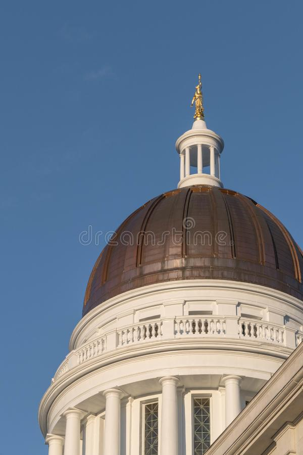 Maine State House Dome royalty free stock photo