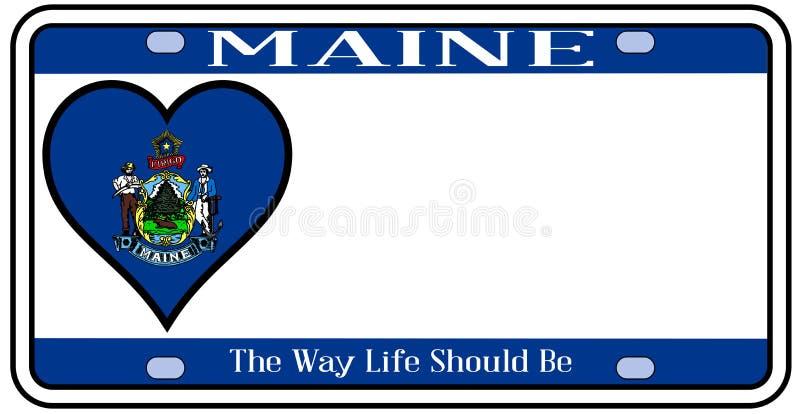 Maine State License Plate illustrazione di stock
