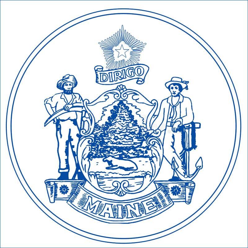Maine State Seal illustrazione di stock