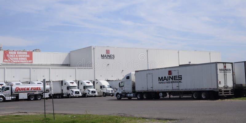 Maines纸和食品供应,阿灵顿, TN 库存照片