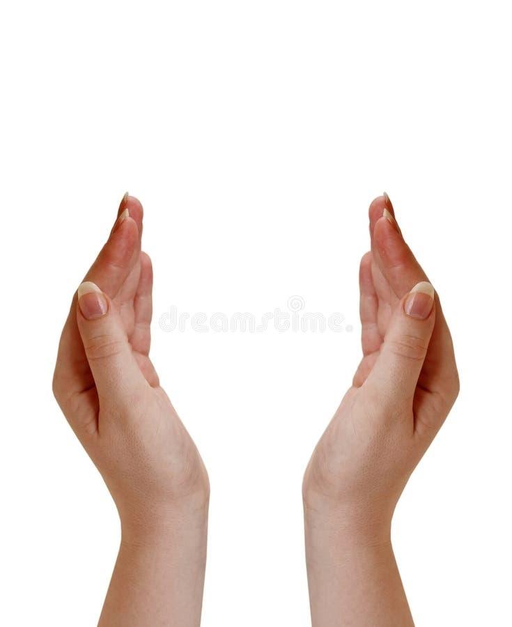 Mains évasées photo libre de droits
