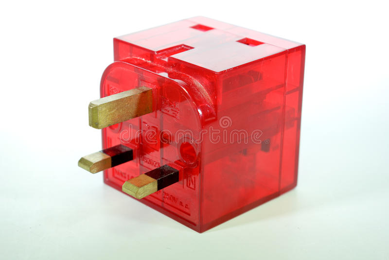 Mains adaptor 1. 2way mains adaptor for use around the house or factory stock images