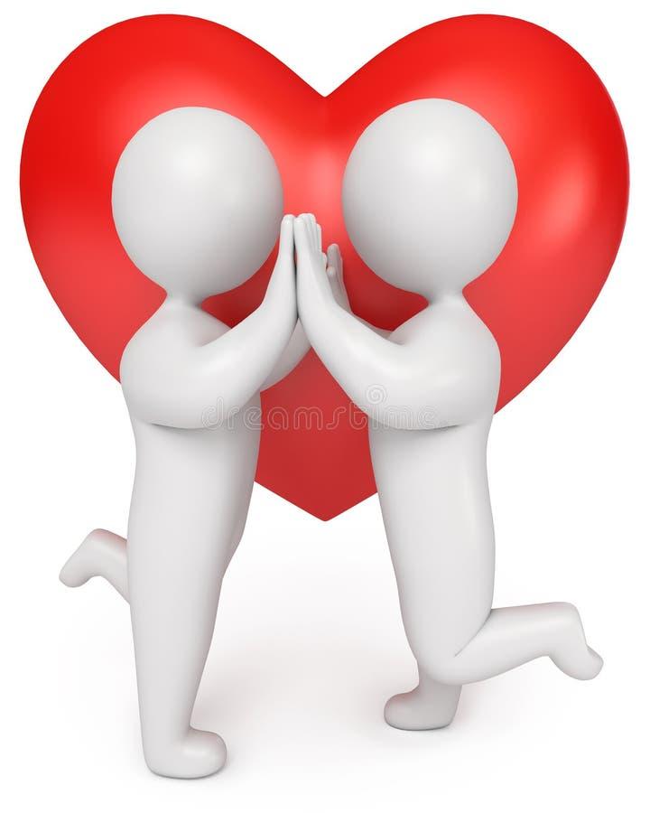 Mains affectueuses de fixation de couples illustration libre de droits