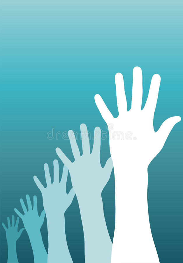 Mains augmentées illustration libre de droits