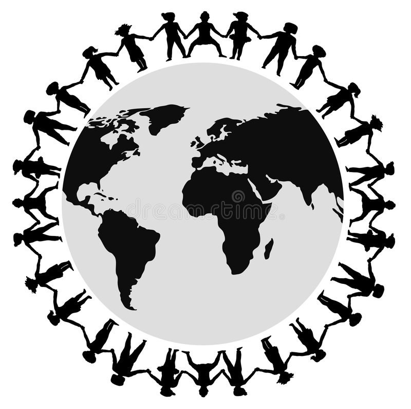 Mains autour du monde 2 illustration de vecteur