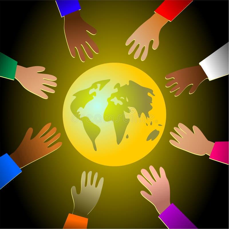 Mains colorées illustration libre de droits