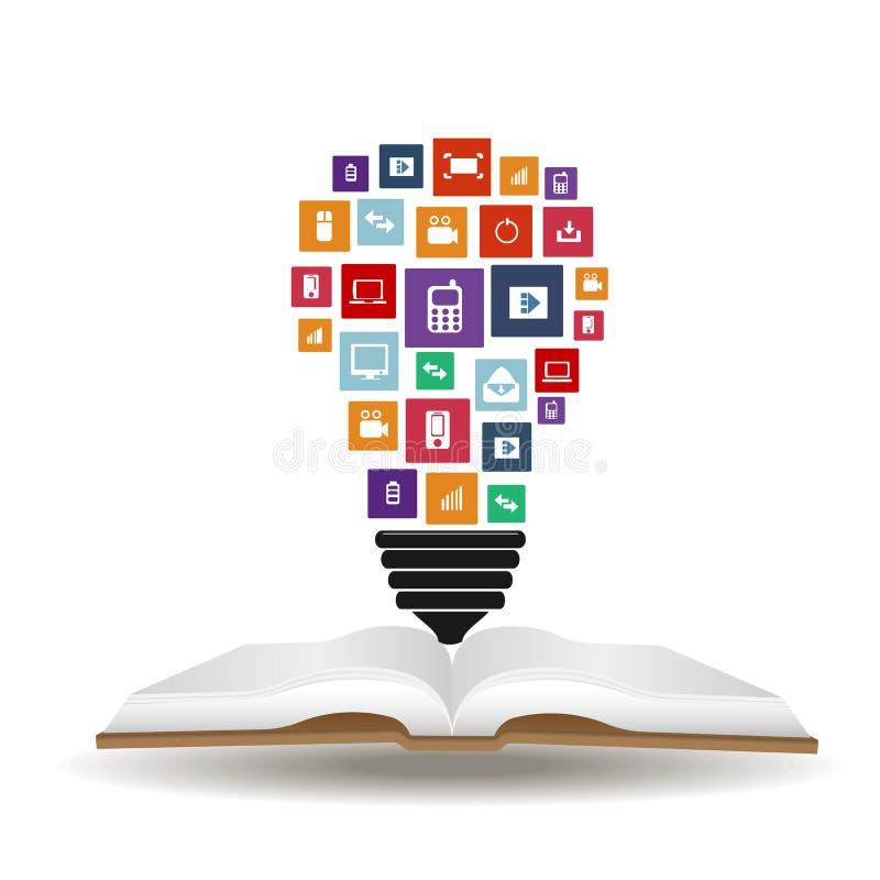 Mains créatives abstraites de siluet de vecteur de concept des icônes Pour le Web et les applications mobiles d'isolement sur le  illustration libre de droits