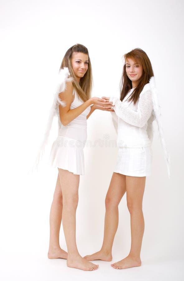 Mains d'ange image stock