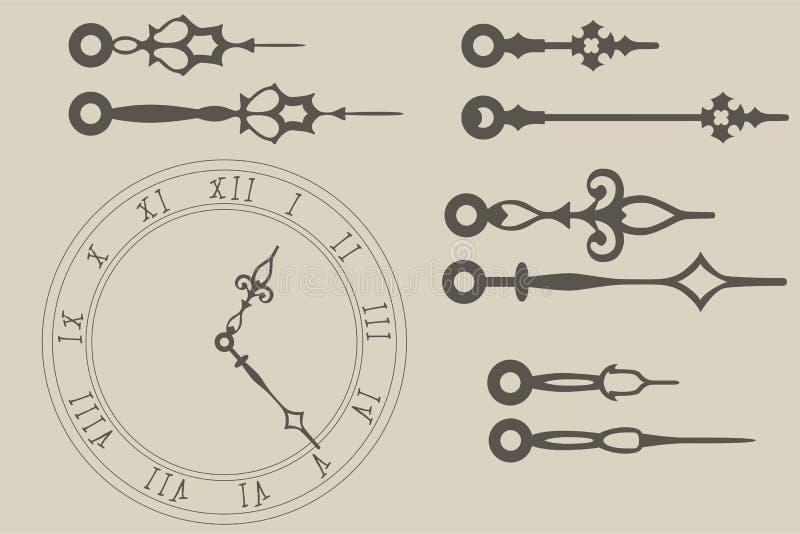 Mains d'horloge photos stock