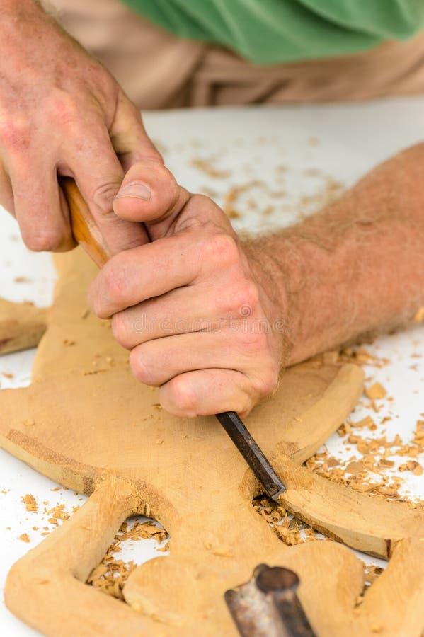 Mains d'un sculpteur image libre de droits