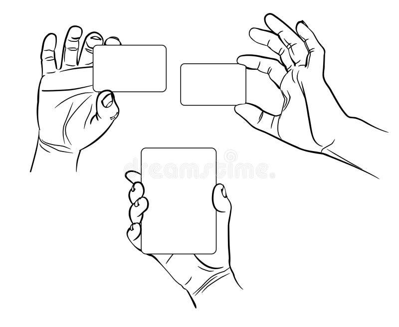 Mains dans différentes interprétations illustration stock