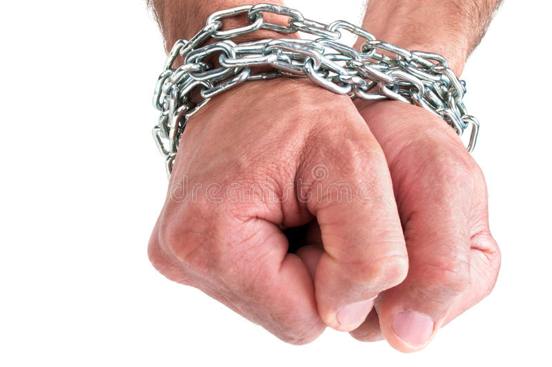 Mains dans le réseau images libres de droits