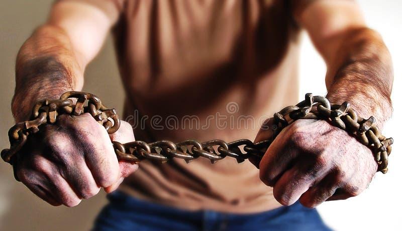 Mains Dans Les Réseaux Image libre de droits