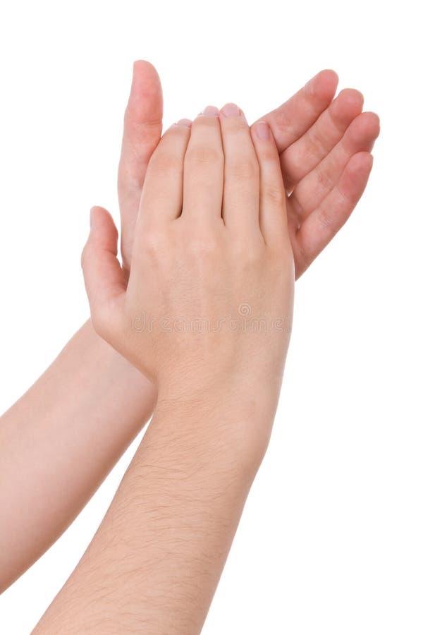 mains de applaudissement image stock