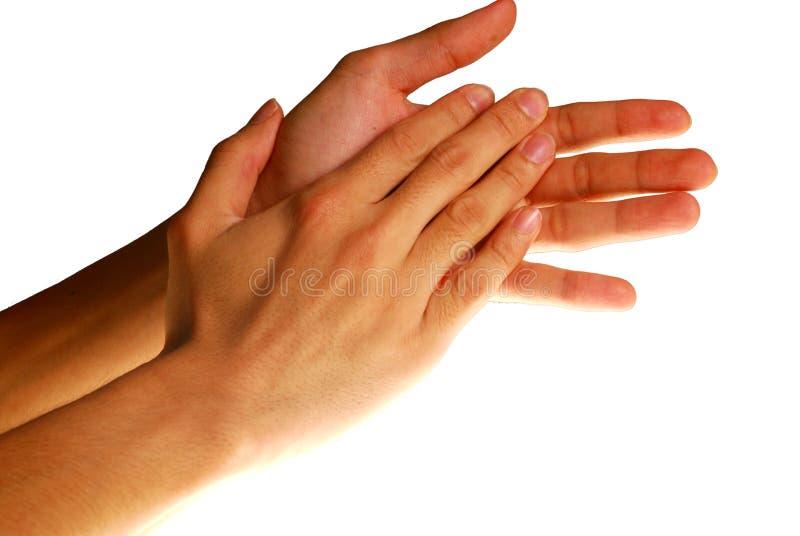 Mains de applaudissement photos libres de droits
