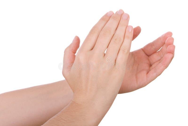 mains de applaudissement de applaudissement photographie stock libre de droits