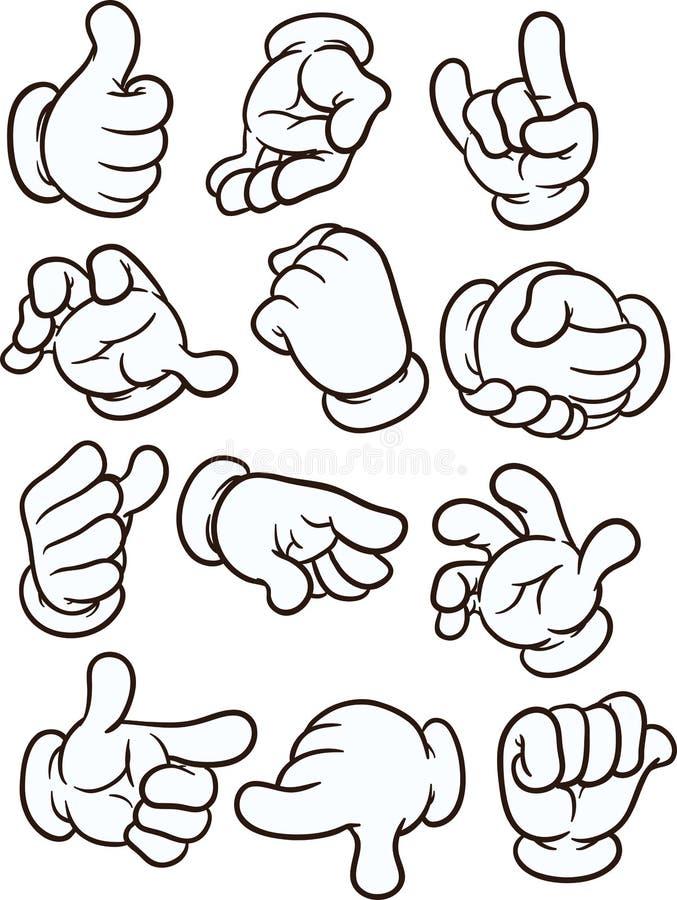 Mains de bande dessinée illustration libre de droits