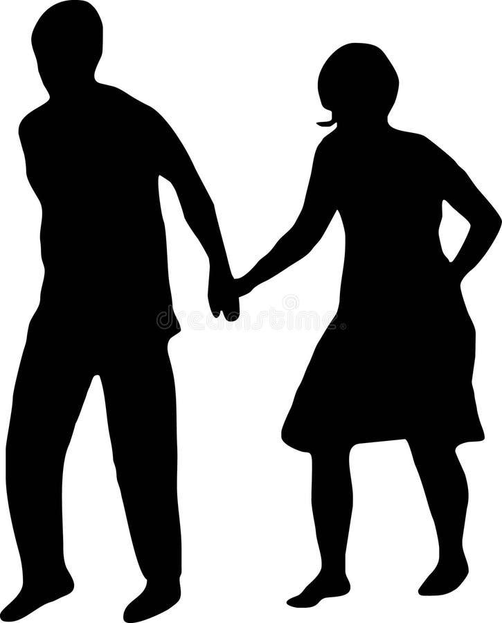 Mains de fixation de couples illustration de vecteur