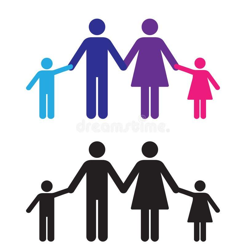 Mains de fixation de famille illustration de vecteur
