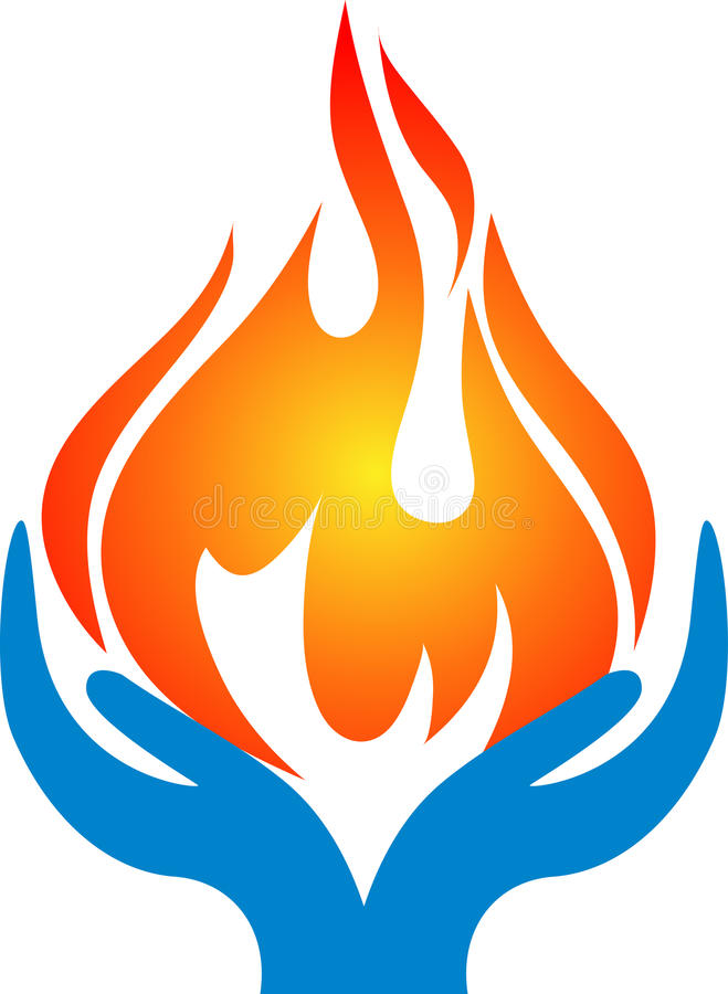 Mains de flamme illustration libre de droits