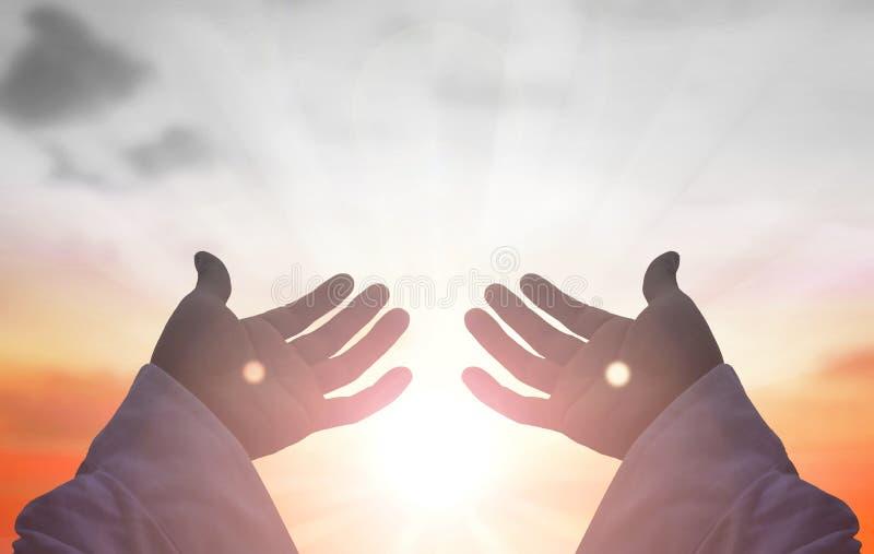Mains de Jesus Christ image libre de droits