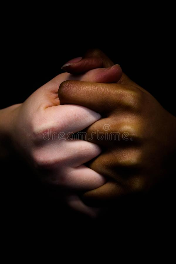 Mains de l'amitié images libres de droits
