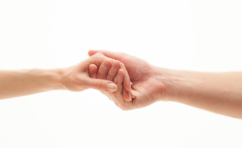 Mains de l'homme et de femme images libres de droits