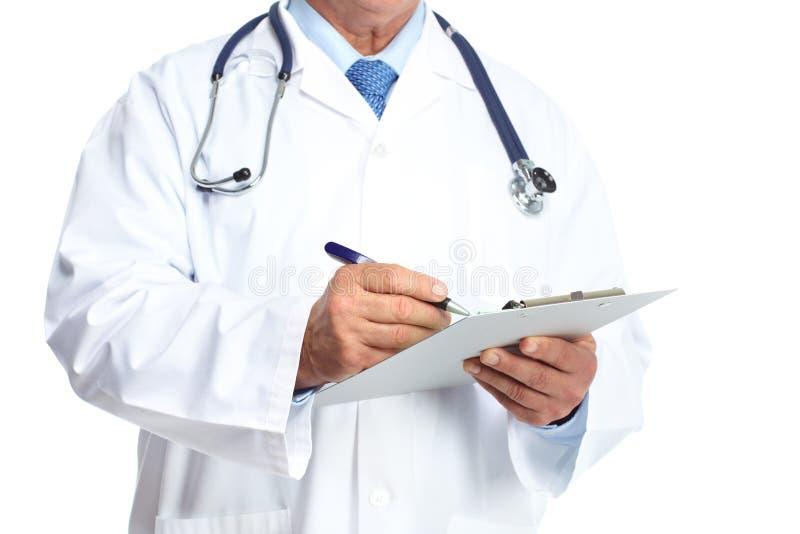 Mains de médecin. images libres de droits