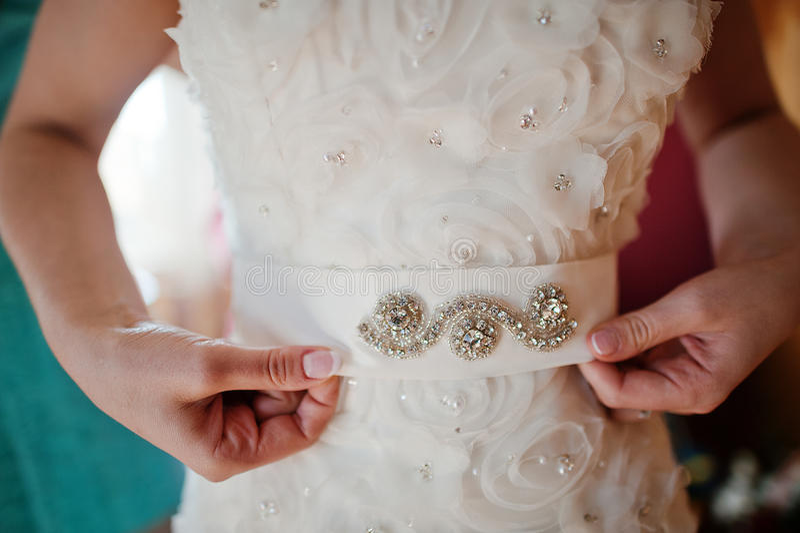 Mains de mariée images libres de droits