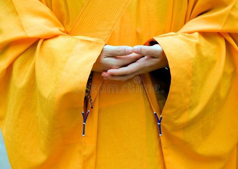 Mains de moine images libres de droits