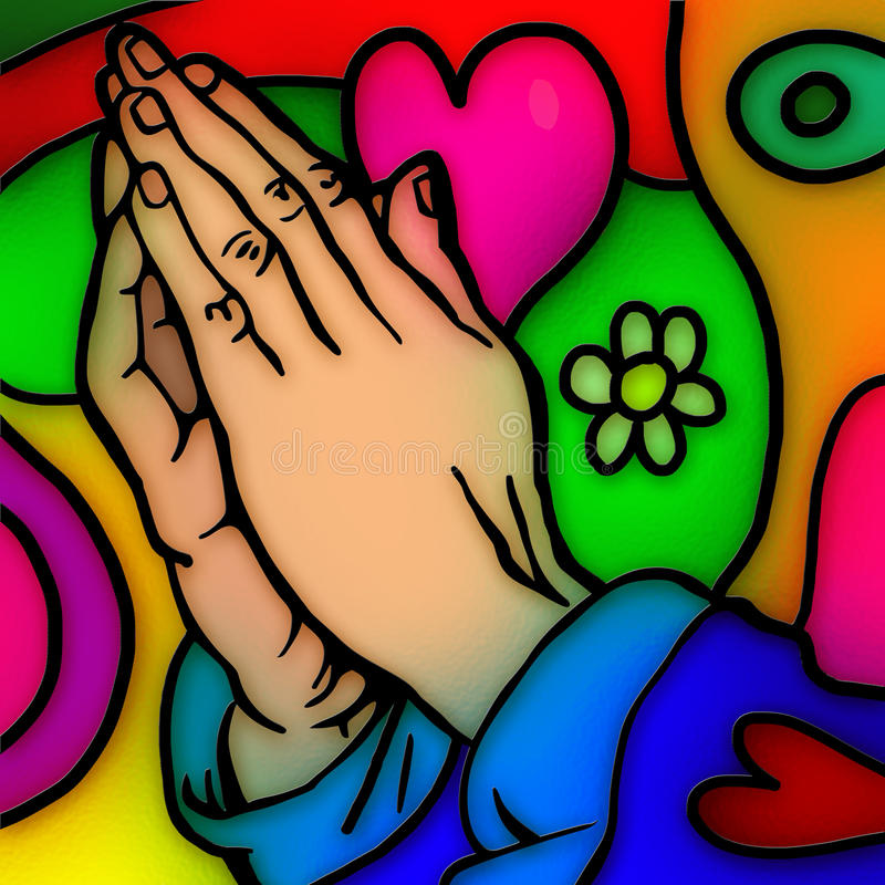 Mains de prière illustration libre de droits