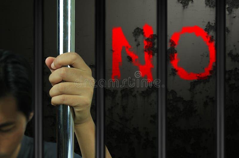 Mains du prisonnier photos libres de droits