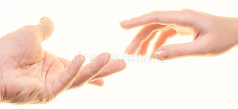 Mains du ` s d'homme et de femmes photo stock