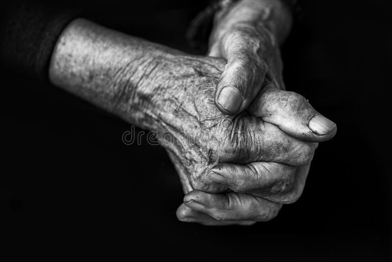 Mains en noir et blanc images libres de droits