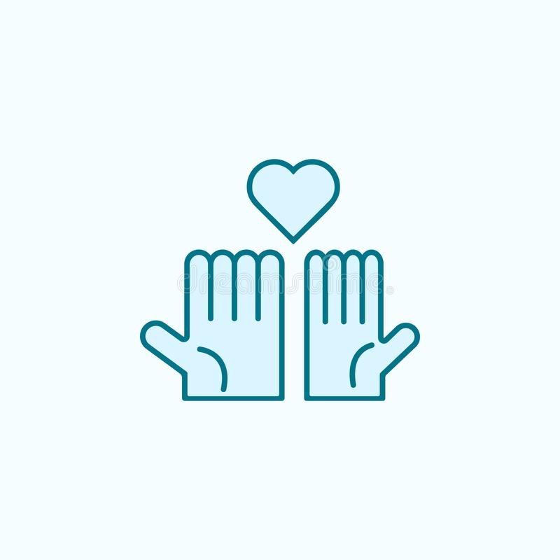 mains et discrimination raciale icône du coeur 2 Illustration simple d'élément coloré mains et conception de symbole d'ensemble d illustration de vecteur