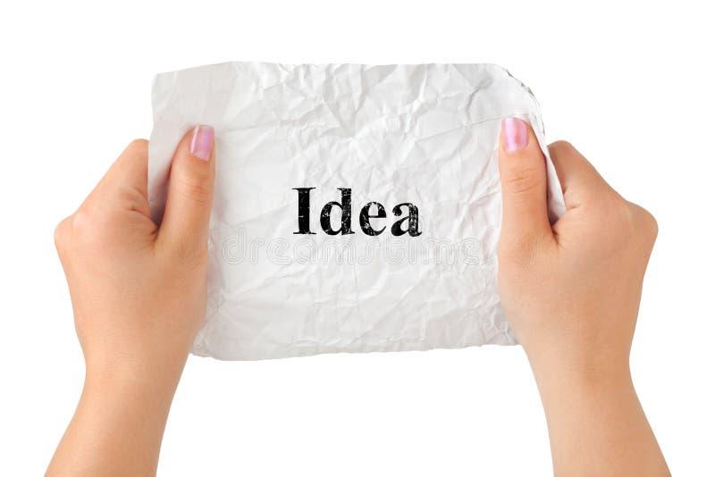 Mains et idée de papier photos libres de droits