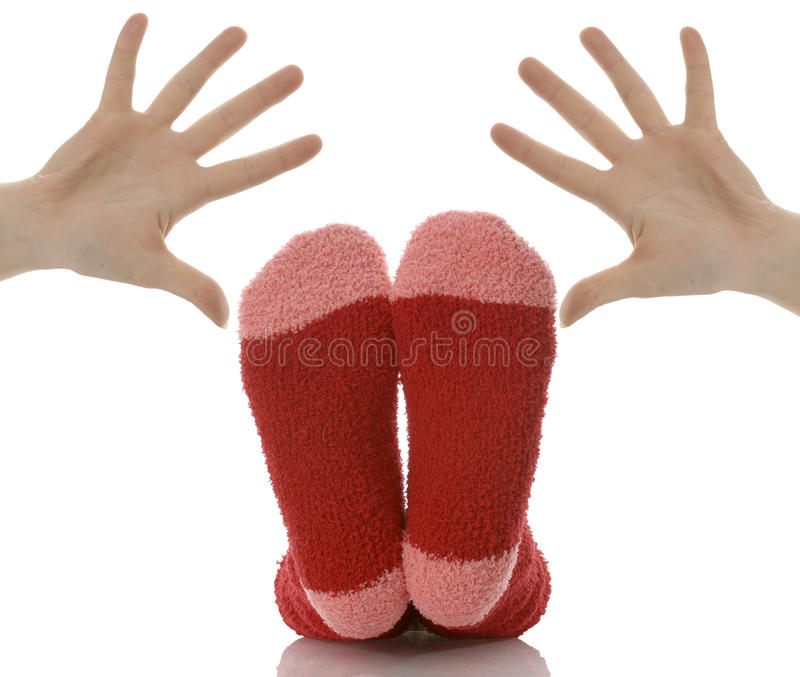 Mains et pieds photo stock