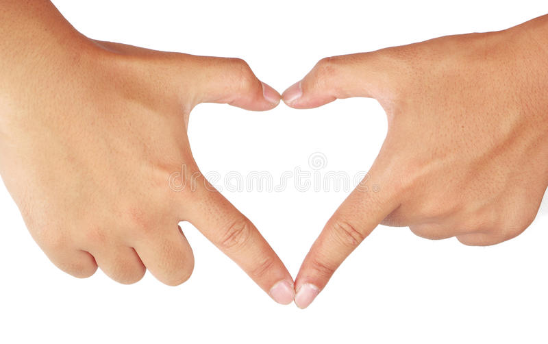 Mains formant un coeur. photos stock